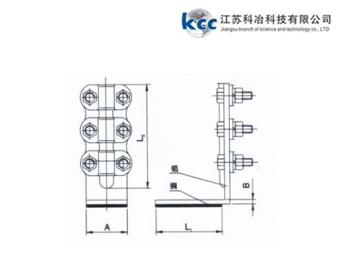 螺栓型铜铝过渡设备线夹